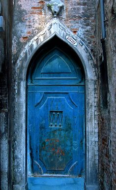Amazing blue door.