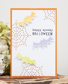 Happy Spooky Halloween Card by Ashley Cannon Newell for Papertrey Ink (August 2014)