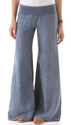 Enza Costa Linen Wide Leg Pants