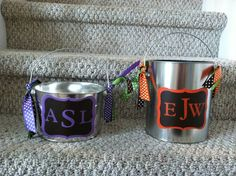 Personalized Halloween Bucket for Boy or Girl by 2LittleBirdsShop, $18.00