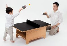A Coffee Table For Kids With A Secret Ping-Pong Mode