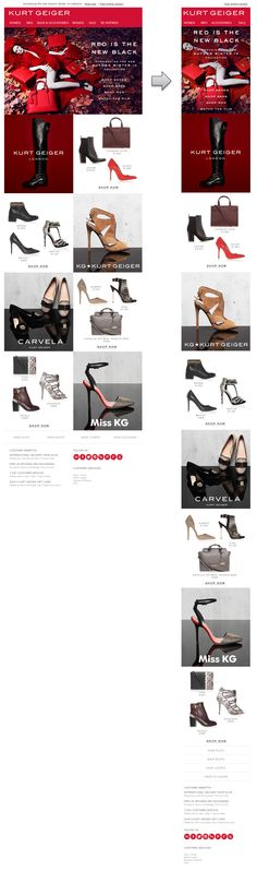 Responsive Email Design from Kurt Geiger #responsiveemaildesign #emailmarketing