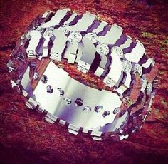 Tire tread rings by fast edde39s 4x4 jewelry his and hers for Super swamper bogger wedding ring