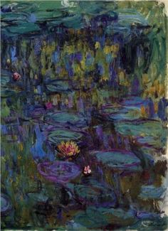 Water Lilies - Claude Monet, 1917. art boards, waterlili, claud monet, art paintings, claude monet, color, artists that inspire, art pieces, water lilies