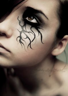 cool :) costum, halloween parties, eye makeup, weeping willow, halloween makeup, makeup ideas, makeup art, halloween eyes, eye art
