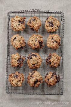 oatmeal chocolate chip cookies (gluten/dairy-free, naturally sweetened)