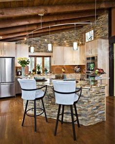 kitchen island bar stone work housepr0n | Kitchen Island | Pinterest
