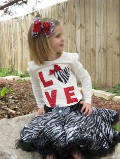 girl's valentine shirt