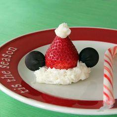 Mickey Strawberry Santa Hats