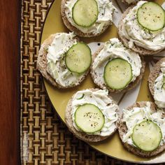 Cucumber-Rye Tea Sandwiches | Little slices of party rye are a Southern favorite for tea sandwiches
