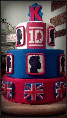 one direction cakes, birthday parti, diy one direction cake, 1d parti, direct cake, one direction party ideas, parti idea, direct parti, birthday ideas