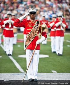 Drum Major Marine Corp drum and Bugle Corp., Mentor, OH By Kolman Rosenberg