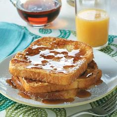 Eggnog French Toast Recipe from Taste of Home -- This recipe is a favorite of our family at any time of the year!  —Robert Northrup, Las Cruces, New Mexico