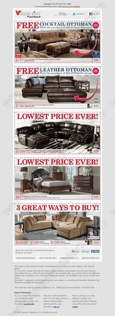Company: Value City Furniture   Subject: This Presidents' Day Weekend, Everything's On Sale  INBOXVISION, a global email gallery/database of 1.5 million B2C and B2B promotional email/newsletter templates, provides email design ideas and email marketing intelligence. www.inboxvision.c... #EmailMarketing  #DigitalMarketing  #EmailDesign  #EmailTemplate  #InboxVision  #SocialMedia  #EmailNewsletters