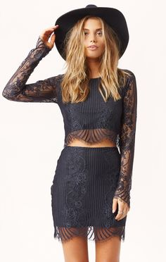 lolo crop top by FOR LOVE AND LEMONS #planetblue