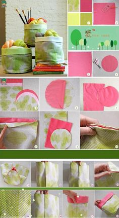 DIY Creative Wrapped Fabric Pouch