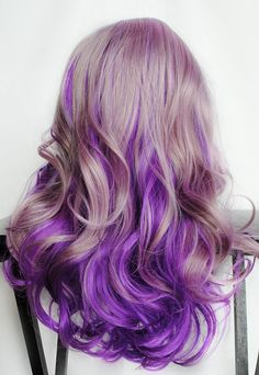 Lilac Frost // Lavender Pastel Purple Ombre Hair // Curly Wavy Thick Wig. via MIssVioletLace on Etsy.