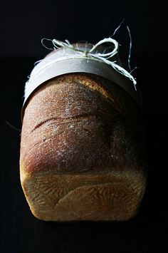 Fresh Baked Honey Wheat Bread by local milk