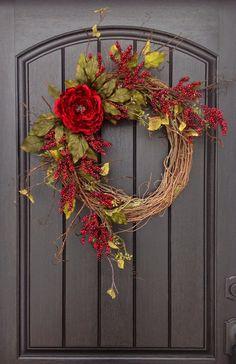 Spring Wreath Summer Wreath Fall Wreath Berry Twig Grapevine Door Wreath Decor Use Year Round