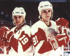Steve Yzerman and Sergei Fedorov
