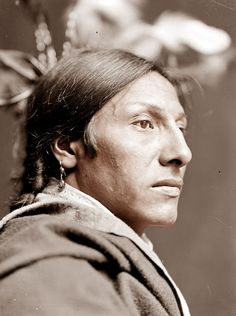 This morning we feature a portrait of Amos Two Bulls, a Sioux Brave. The picture was taken in 1900. By this time, the traditional Indian lifestyle had pretty much come to an end. Most were living on reservations at this point. Amos Two Bulls was a member of the Buffalo Bill Wild West Show.