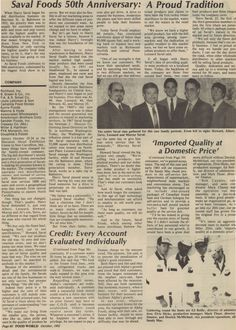 50th Anniversary Newspaper Article