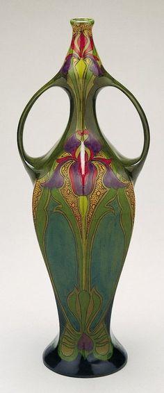 Art Nouveau - beautiful iris vase