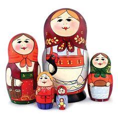 """Traditional Matryoshka """"Farm Life"""""""