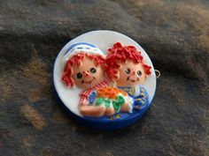 Vintage Raggedy Ann and Andy Barrette