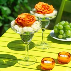 margarita glass centerpieces