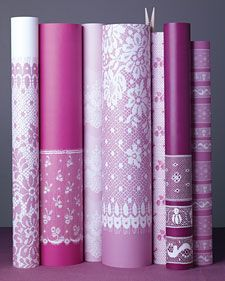 Martha Stewart ~ Lace Wrapping Paper