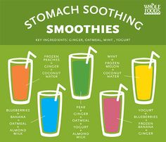 Feel beautiful, inside and out! Here are five stomach soothing smoothie recipes.