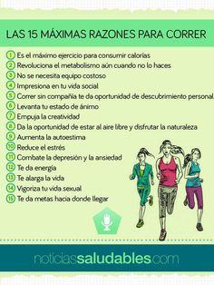 Las 15 máximas razones para correr.