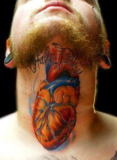heart stuck in your throat #heart #tattoo