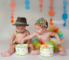 Super cute for fraternal twins! Makes you wanna have 2 huh? Ok, I kid, I kid...