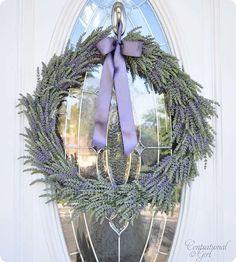 Lavendar summer wreath