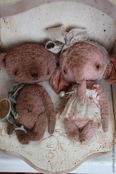 Мишки Тедди ручной работы. Ярмарка Мастеров - ручная работа Rouse. Handmade.