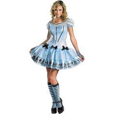 Alice in Wonderland Sassy Alice Adult Halloween Costume, $44.00