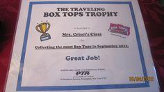Box Tops Certificate