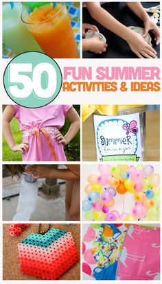 50 Fun Summer Ideas & Activities  |  ThirtyHandMadeDays.com