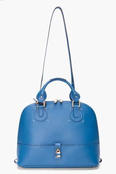 CHLOE //  BLUE LEATHER DAWN TOTE