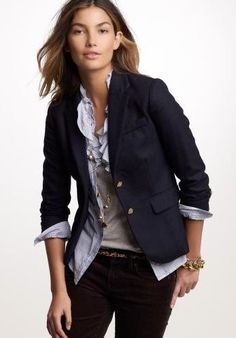 Navy blazer goes with everything