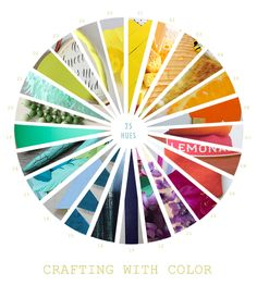 Crafting With The Color Wheel - craft idea for any color! | A Subtle Revelry