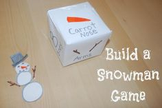 Build a Snowman Game.  Fun game for young children!  Pin this site.  25 Winter Activities for Kids in 25 Days! christmas games kids, activities for kids, young children, winter fun, snowman game, winter craft, 25 winter, winter activities, fun games and crafts