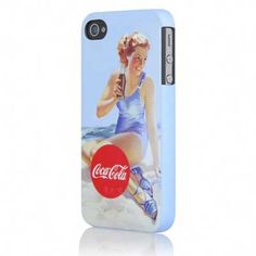 Coca-Cola iPhone 4-4S Mobile Case - Bathing Beauty Blue Suit - instant makeover with Coke flare