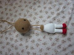 Attaching the head - By Hook, By Hand: Doll Pattern