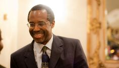 Dr. Ben Carson. This man gave an incredible and awesome speech at the National Prayer Breakfast on 2/8/13. He rocks. I hope we're related to him!