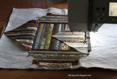Quilt as you go with pictorial tutorial.. No complicated joining of blocks,