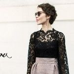 lace tops, pixie cuts, fashion, cloth, style, inspir, beauti, earring, ulyana sergeenko
