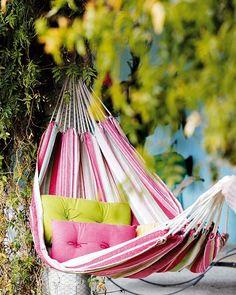 color, green, hammocks, at the beach, gardens, pink, backyard, sweet dreams, summer days